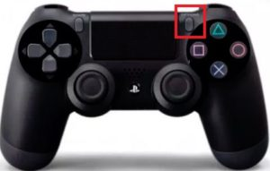 PS4コントローラーオプションボタン