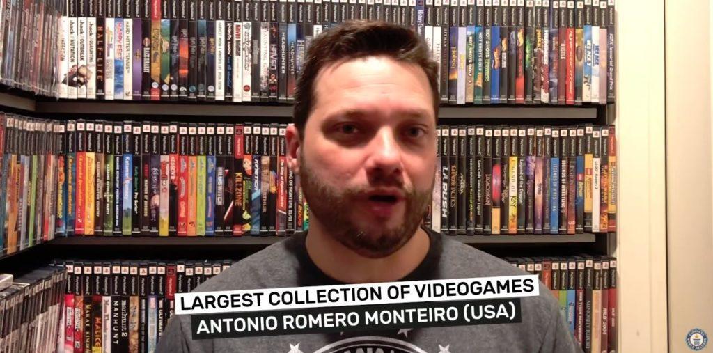 世界一ゲームソフトを持っているアントニオ・モンテイロさん