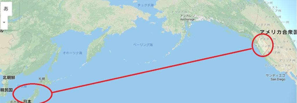 日本とオレゴン州