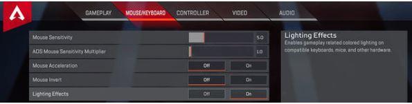 マウス/キーボード設定で、互換性のあるハードウェアのオン/オフ設定