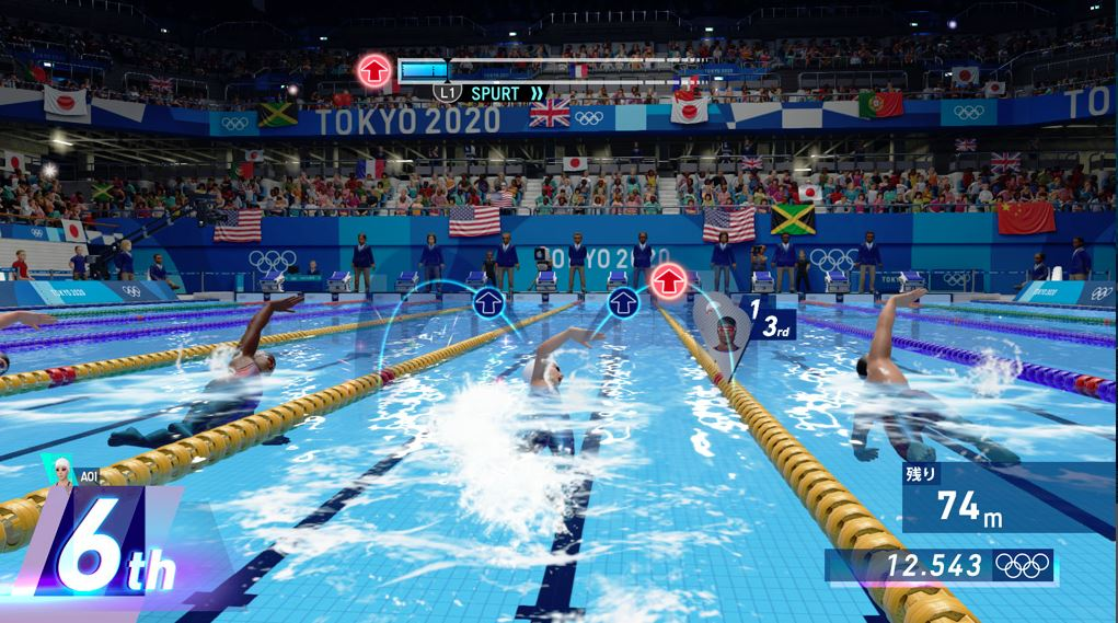 東京2020オリンピック The Official Video Game 100m自由形