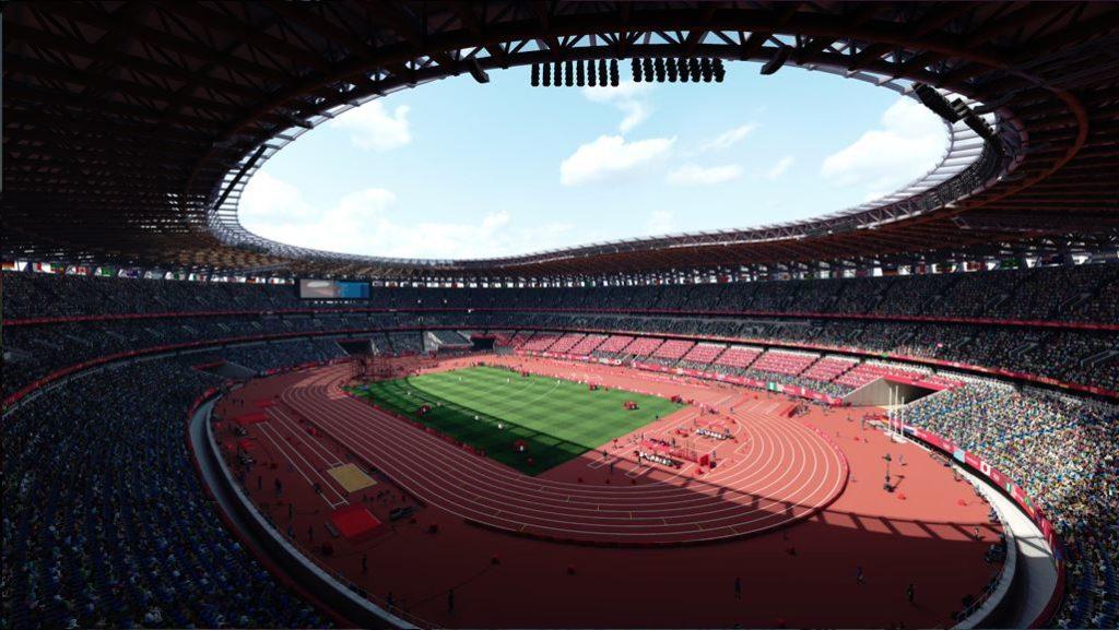 ゲーム上でのオリンピック競技場