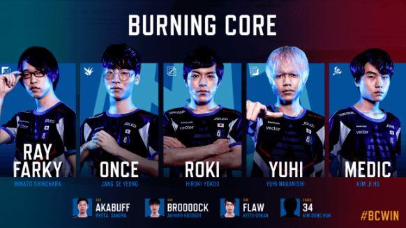 Burning Core (バーニングコア / BC)2019年後半開幕メンバー