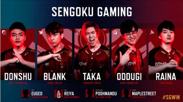 Sengoku Gaming (センゴク ゲーミング / SG)2019年後半メンバー