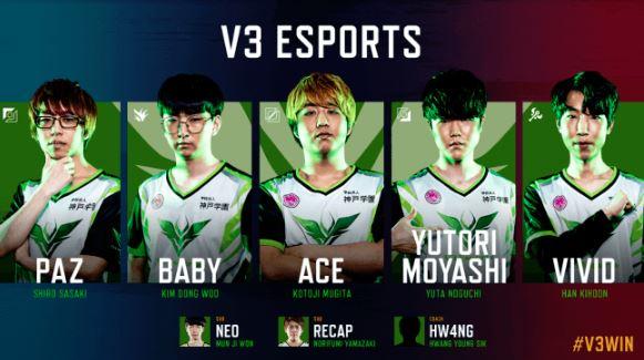 V3 Esports (ブイスリーイースポーツ / V3)2019年後半開幕メンバー