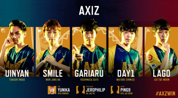 AXIZ (アクシズ / AXZ)2019年開幕戦メンバー