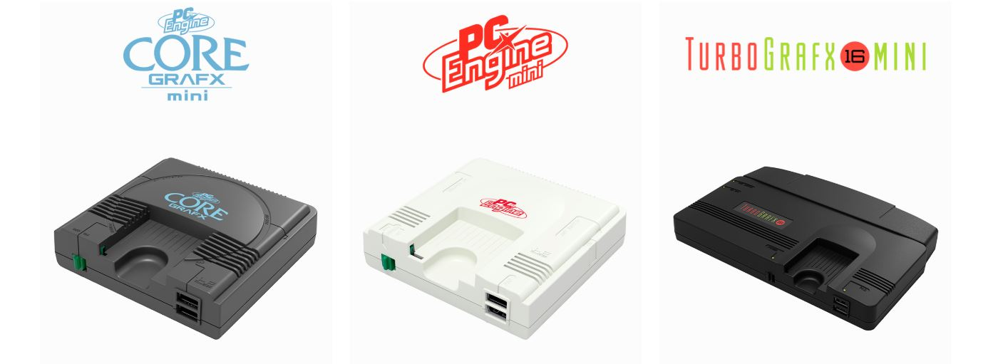 「TurboGrafx-16 mini」(北米)、「PC Engine Core Grafx mini」(欧州)、PCエンジンミニ