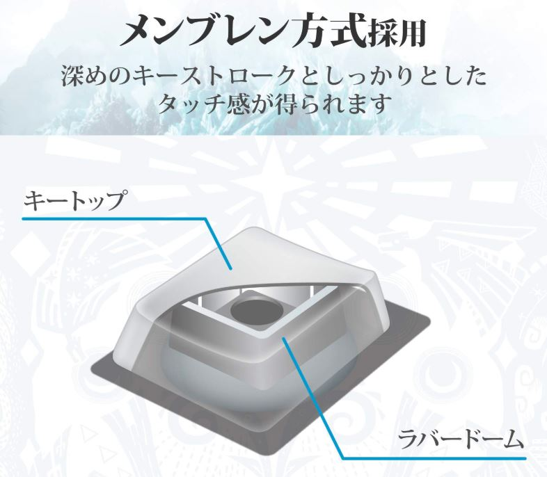 PS4専用有線キーボード【TK-MHW02WH】キーの特徴