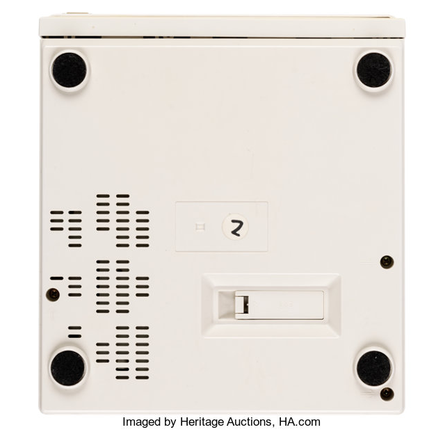 ニンテンドープレイステーションスーパーNES CD-ROMプロトタイプの裏側