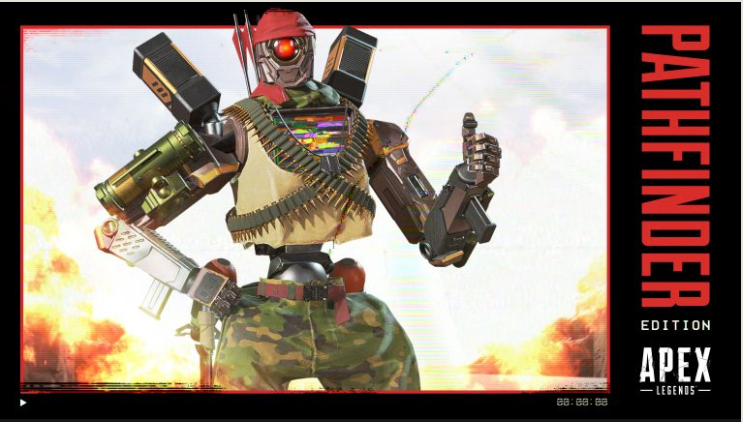 パスファインダー用レジェンダリースキン「フルメタルロボット」